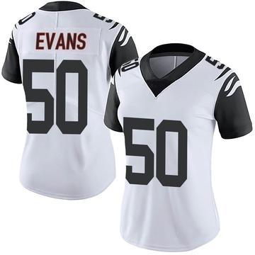 Women's Nike Cincinnati Bengals Jordan Evans White Color Rush Vapor Untouchable Jersey - Limited