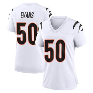 Women's Nike Cincinnati Bengals Jordan Evans White Jersey - Game