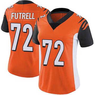 Women's Nike Cincinnati Bengals Kendall Futrell Orange Vapor Untouchable Jersey - Limited