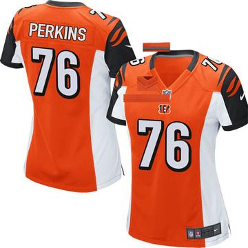 Women's Nike Cincinnati Bengals Kent Perkins Orange Jersey - Game