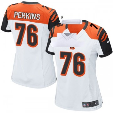 Women's Nike Cincinnati Bengals Kent Perkins White Jersey - Game