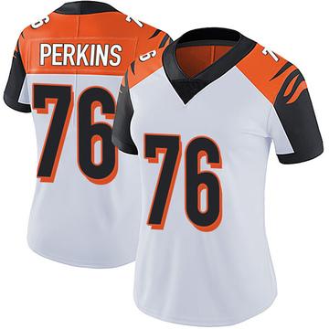 Women's Nike Cincinnati Bengals Kent Perkins White Vapor Untouchable Jersey - Limited