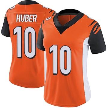 Women's Nike Cincinnati Bengals Kevin Huber Orange Vapor Untouchable Jersey - Limited