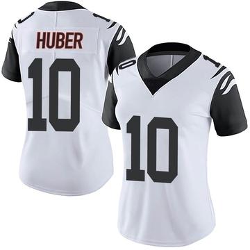 Women's Nike Cincinnati Bengals Kevin Huber White Color Rush Vapor Untouchable Jersey - Limited