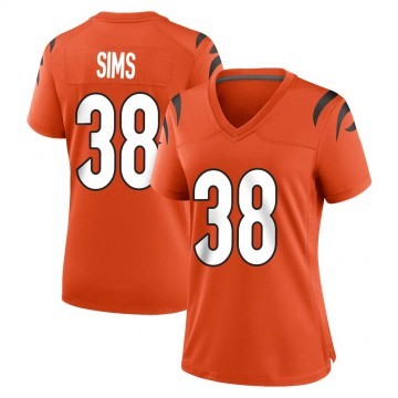 Women's Nike Cincinnati Bengals LeShaun Sims Orange Jersey - Game