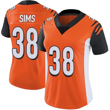 Women's Nike Cincinnati Bengals LeShaun Sims Orange Vapor Untouchable Jersey - Limited
