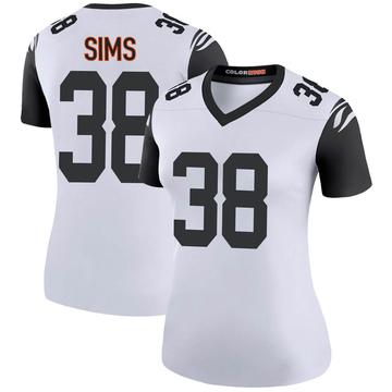 Women's Nike Cincinnati Bengals LeShaun Sims White Color Rush Jersey - Legend