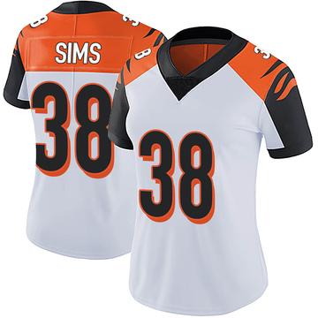 Women's Nike Cincinnati Bengals LeShaun Sims White Vapor Untouchable Jersey - Limited