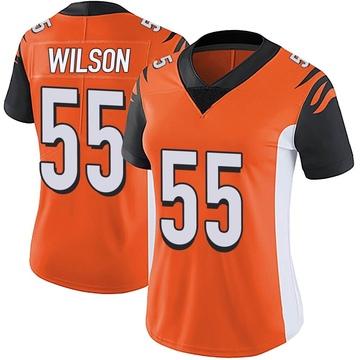 Women's Nike Cincinnati Bengals Logan Wilson Orange Vapor Untouchable Jersey - Limited