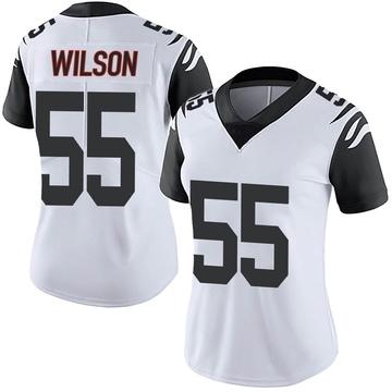 Women's Nike Cincinnati Bengals Logan Wilson White Color Rush Vapor Untouchable Jersey - Limited