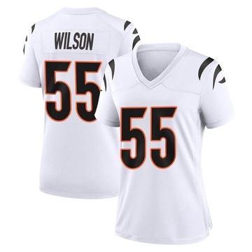Women's Nike Cincinnati Bengals Logan Wilson White Jersey - Game