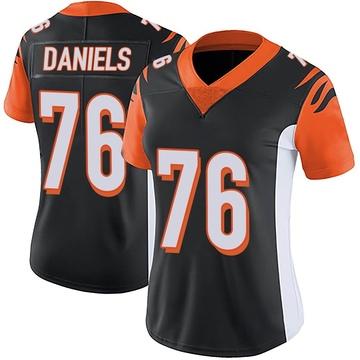 Women's Nike Cincinnati Bengals Mike Daniels Black Team Color Vapor Untouchable Jersey - Limited