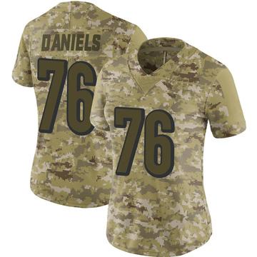 Women's Nike Cincinnati Bengals Mike Daniels Camo 2018 Salute to Service Jersey - Limited
