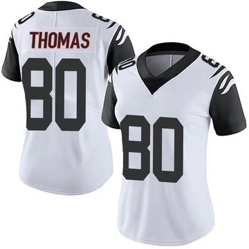 Women's Nike Cincinnati Bengals Mike Thomas White Color Rush Vapor Untouchable Jersey - Limited