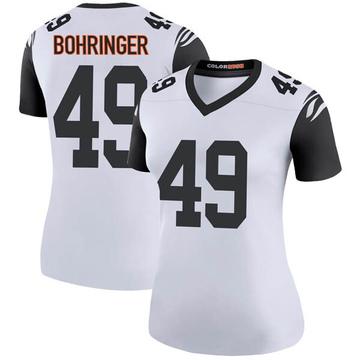 Women's Nike Cincinnati Bengals Moritz Bohringer White Color Rush Jersey - Legend
