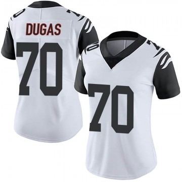Women's Nike Cincinnati Bengals O'Shea Dugas White Color Rush Vapor Untouchable Jersey - Limited