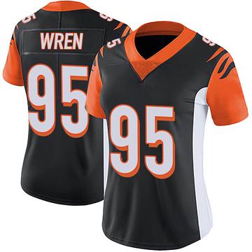 Women's Nike Cincinnati Bengals Renell Wren Black Team Color Vapor Untouchable Jersey - Limited
