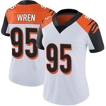 Women's Nike Cincinnati Bengals Renell Wren White Vapor Untouchable Jersey - Limited