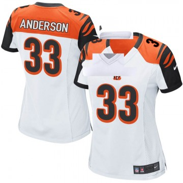 Women's Nike Cincinnati Bengals Rodney Anderson White Jersey - Game