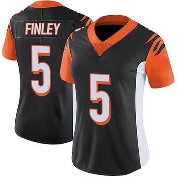 Women's Nike Cincinnati Bengals Ryan Finley Black Team Color Vapor Untouchable Jersey - Limited