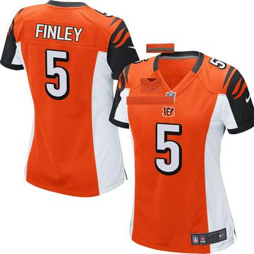 Women's Nike Cincinnati Bengals Ryan Finley Orange Jersey - Game