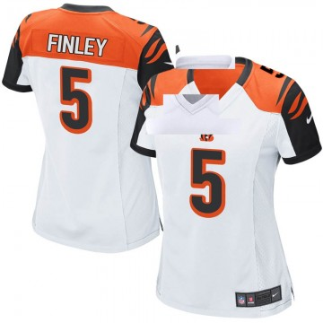 Women's Nike Cincinnati Bengals Ryan Finley White Jersey - Game
