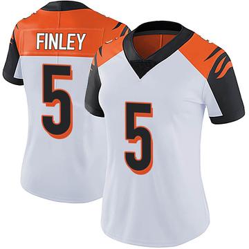 Women's Nike Cincinnati Bengals Ryan Finley White Vapor Untouchable Jersey - Limited