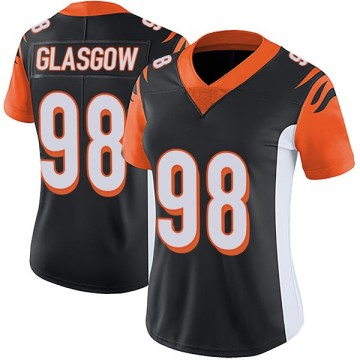 Women's Nike Cincinnati Bengals Ryan Glasgow Black Team Color Vapor Untouchable Jersey - Limited