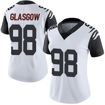 Women's Nike Cincinnati Bengals Ryan Glasgow White Color Rush Vapor Untouchable Jersey - Limited