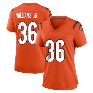 Women's Nike Cincinnati Bengals Shawn Williams Orange Jersey - Game
