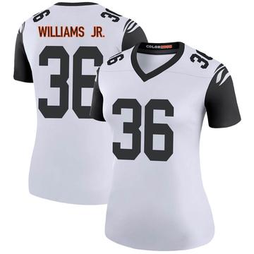 Women's Nike Cincinnati Bengals Shawn Williams White Color Rush Jersey - Legend