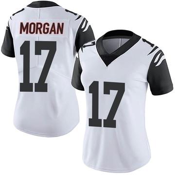 Women's Nike Cincinnati Bengals Stanley Morgan Jr. White Color Rush Vapor Untouchable Jersey - Limited