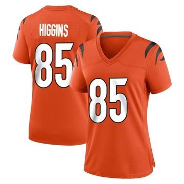 Women's Nike Cincinnati Bengals Tee Higgins Orange Jersey - Game