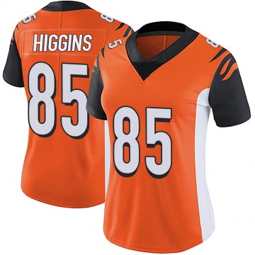 Women's Nike Cincinnati Bengals Tee Higgins Orange Vapor Untouchable Jersey - Limited
