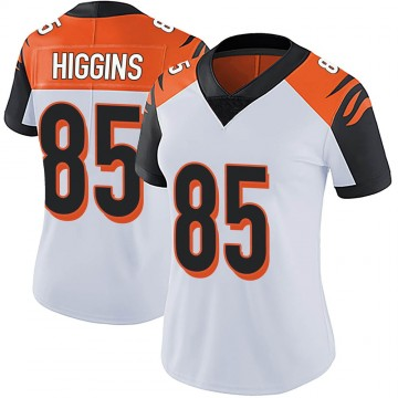 Women's Nike Cincinnati Bengals Tee Higgins White Vapor Untouchable Jersey - Limited