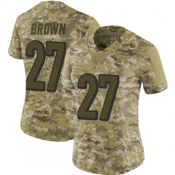 Women's Nike Cincinnati Bengals Tony Brown Brown Camo 2018 Salute to Service Jersey - Limited