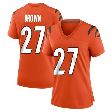 Women's Nike Cincinnati Bengals Tony Brown Orange Jersey - Game