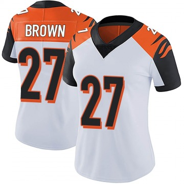 Women's Nike Cincinnati Bengals Tony Brown White Vapor Untouchable Jersey - Limited