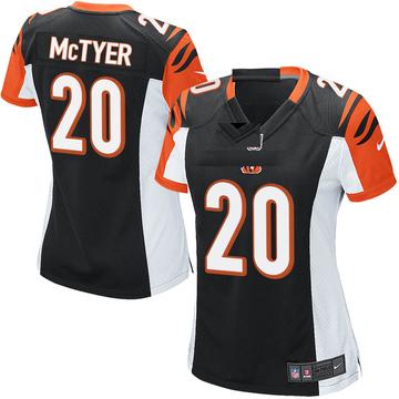 Women's Nike Cincinnati Bengals Torry McTyer Black Team Color Jersey - Game
