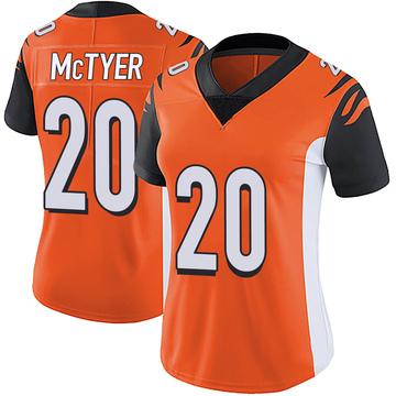 Women's Nike Cincinnati Bengals Torry McTyer Orange Vapor Untouchable Jersey - Limited