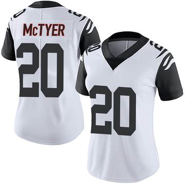 Women's Nike Cincinnati Bengals Torry McTyer White Color Rush Vapor Untouchable Jersey - Limited