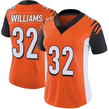 Women's Nike Cincinnati Bengals Trayveon Williams Orange Vapor Untouchable Jersey - Limited