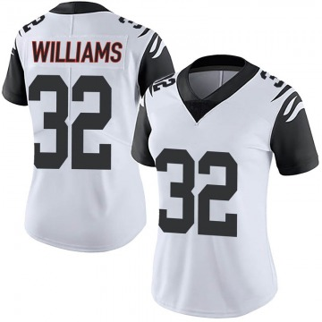 Women's Nike Cincinnati Bengals Trayveon Williams White Color Rush Vapor Untouchable Jersey - Limited