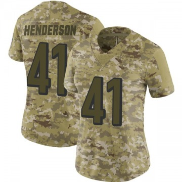 Women's Nike Cincinnati Bengals Trayvon Henderson Camo 2018 Salute to Service Jersey - Limited