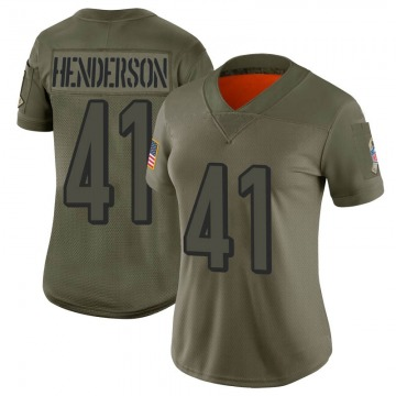 Women's Nike Cincinnati Bengals Trayvon Henderson Camo 2019 Salute to Service Jersey - Limited