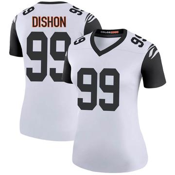 Women's Nike Cincinnati Bengals Trey Dishon White Color Rush Jersey - Legend