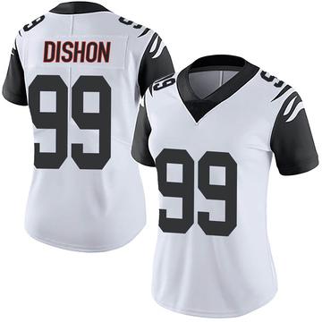 Women's Nike Cincinnati Bengals Trey Dishon White Color Rush Vapor Untouchable Jersey - Limited