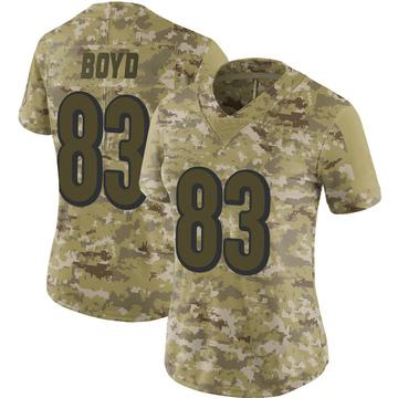 Women's Nike Cincinnati Bengals Tyler Boyd Camo 2018 Salute to Service Jersey - Limited