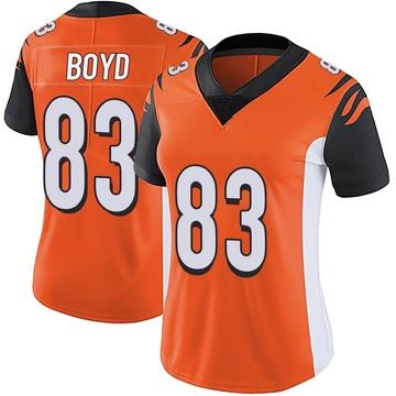 Women's Nike Cincinnati Bengals Tyler Boyd Orange Vapor Untouchable Jersey - Limited