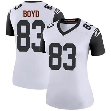 Women's Nike Cincinnati Bengals Tyler Boyd White Color Rush Jersey - Legend